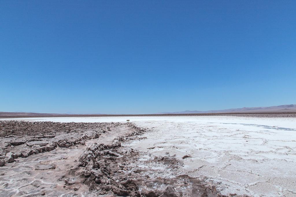 Salz-Lagunen in der Atacama-Wüste